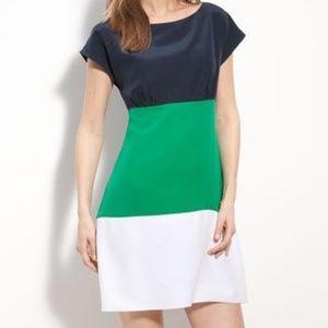 Eliza J Colorblock Crepe Multicolor Sheath Dress